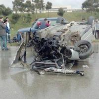 Sumqayıt yolunda avtomobil qəzası