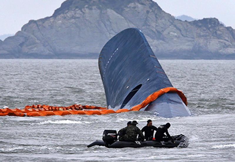 "Затонувший паром ""Севоль"" приподняли над морским дном <span class=""color_red"">- ВИДЕО</span>"