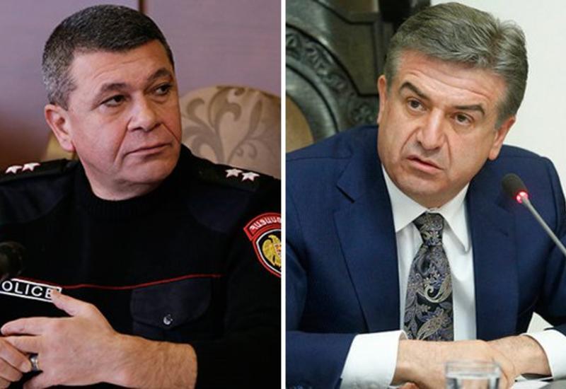 Карен Карапетян наехал на начальника полиции Армении