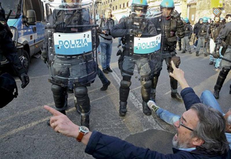 Акция протеста в Риме: есть задержанные