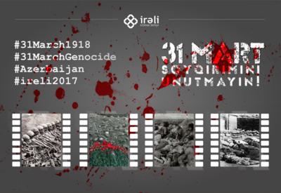 Azərbaycanlı gənclərdən mart soyqırımı ilə bağlı aksiya