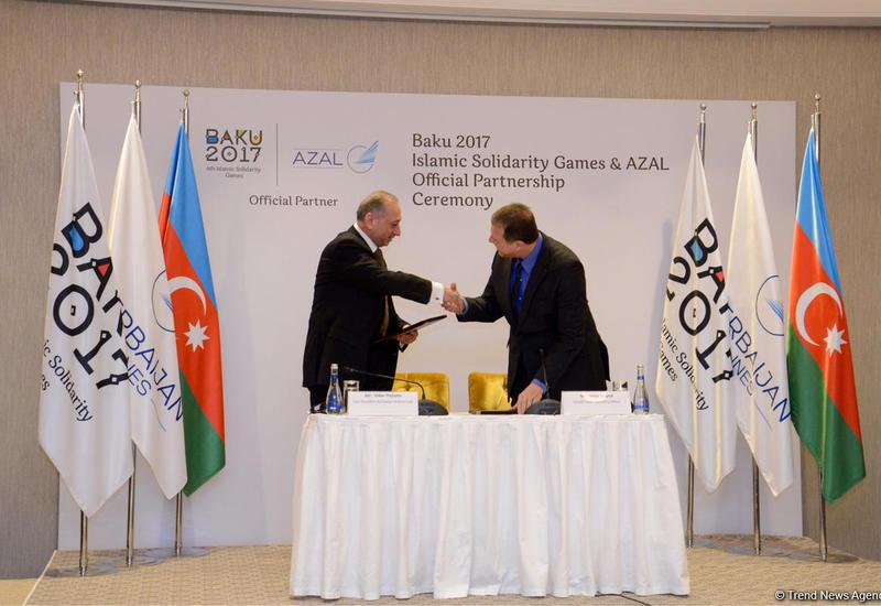 """AZAL стал официальным партнером Игр Исламской солидарности Баку-2017 <span class=""""color_red"""">- ФОТО</span>"""