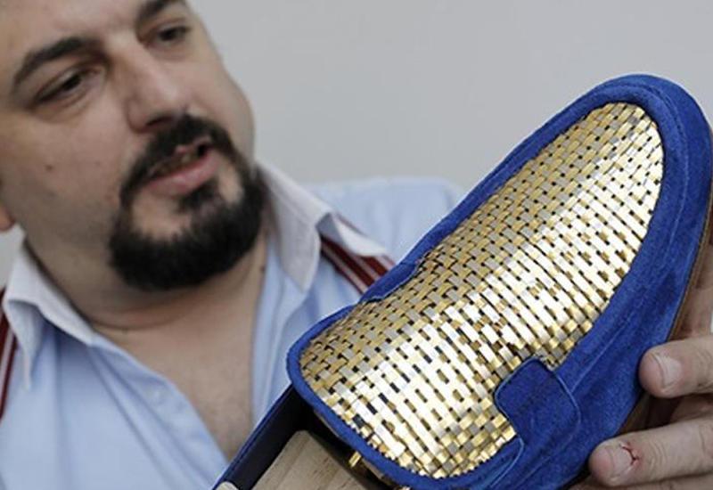 """Итальянец создал первые в мире туфли из золота <span class=""""color_red"""">- ВИДЕО</span>"""