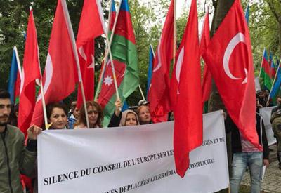 """Азербайджанская диаспора провела в Страсбурге акцию в поддержку Турции <span class=""""color_red"""">- ОБНОВЛЕНО - ФОТО</span>"""