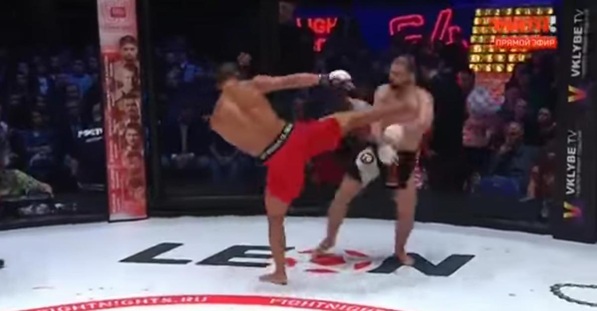 Впервом бою после ухода изUFC Али Багаутинова нокаутировал житель америки