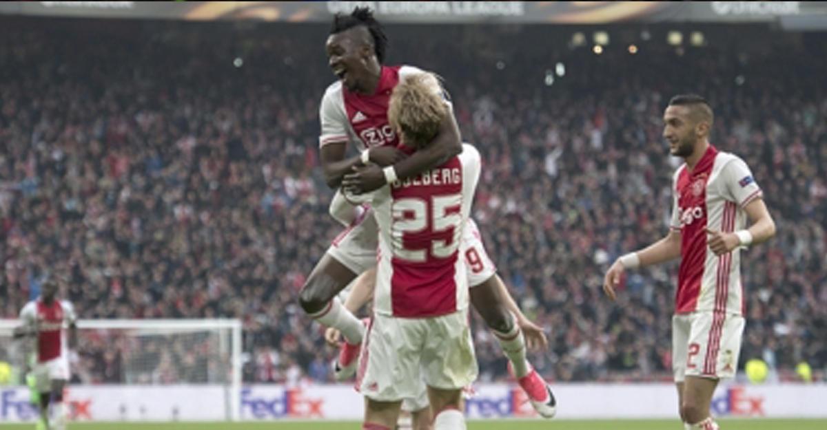 «Аякс» разгромил «Лион» впервом полуфинале Лиги Европы