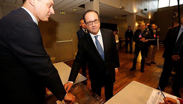 Франсуа Олланд проголосовал навыборах президента