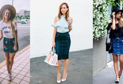 """Уроки street-style - Образы с джинсовой юбкой <span class=""""color_red"""">- ФОТО</span>"""
