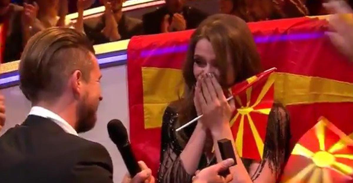 «Евровидение-2017»: Любимый сделал предложение беременной представительнице Македонии впрямом эфире