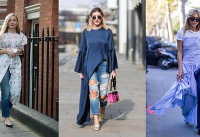 """Как носить джинсы с платьем - стильные идеи <span class=""""color_red"""">- ФОТО</span>"""