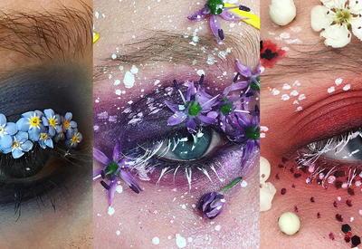 """Цветущий сад - Макияж глаз из живых цветов от визажиста из Великобритании <span class=""""color_red"""">- ФОТО</span>"""