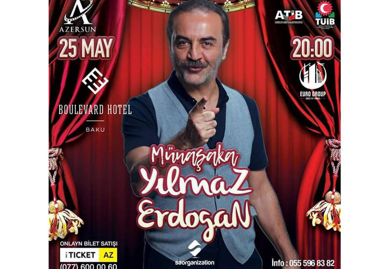 Популярный турецкий актер представит Stand up show в Баку