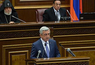 Оппозиция проигнорировала Саргсяна в парламенте