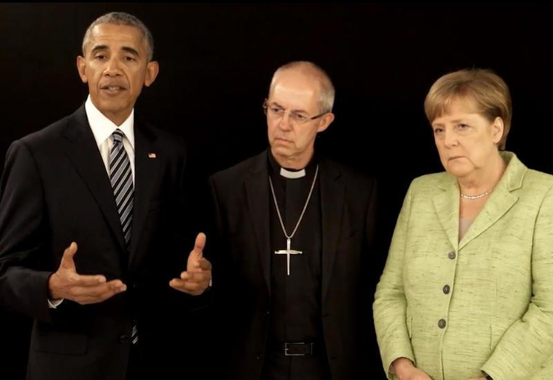 """Меркель и Обама записали совместное видеообращение к жителям Манчестера <span class=""""color_red"""">- ВИДЕО</span>"""