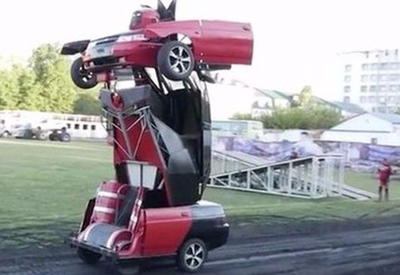 """Rusiyada """"Transformers"""" LADA hazırlandı - görənlər çox təəccübləndi <span class=""""color_red"""">- VİDEO</span>"""