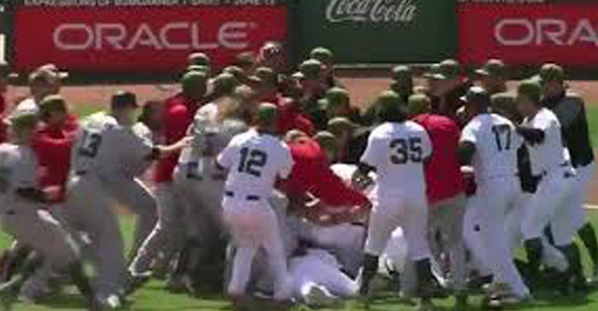Набейсбольном матче вСША произошла массовая драка спортсменов