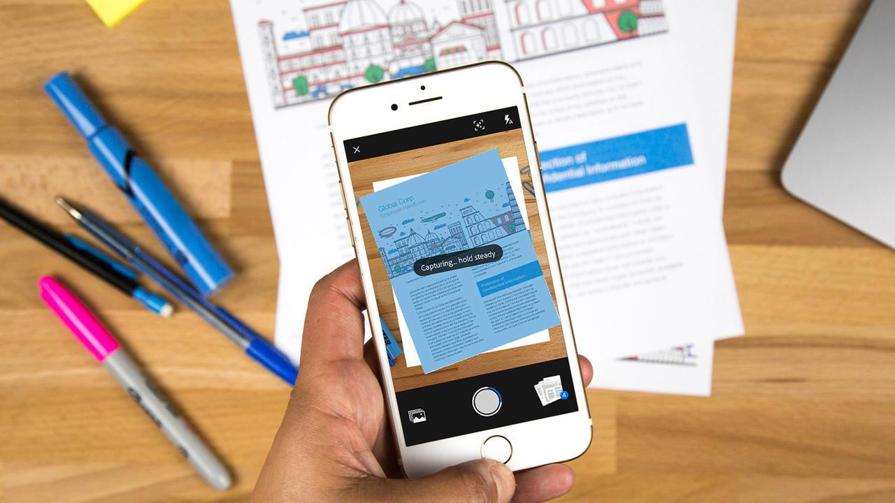 Adobe Scan бесплатно превращает смартфон всканер