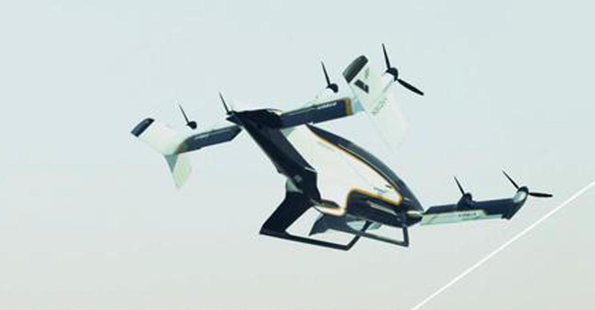 ВAirbus показали видео работы воздушного такси