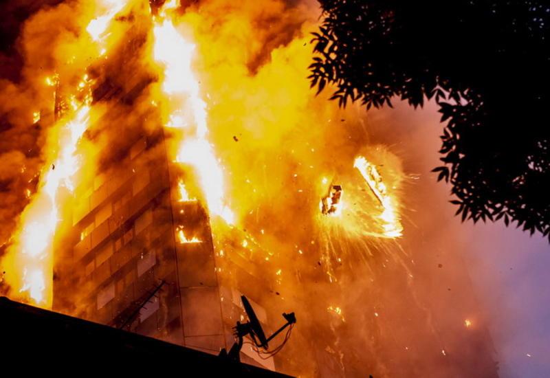 """Эпичные фотографии горящего небоскреба в Лондоне <span class=""""color_red"""">- ФОТО</span>"""