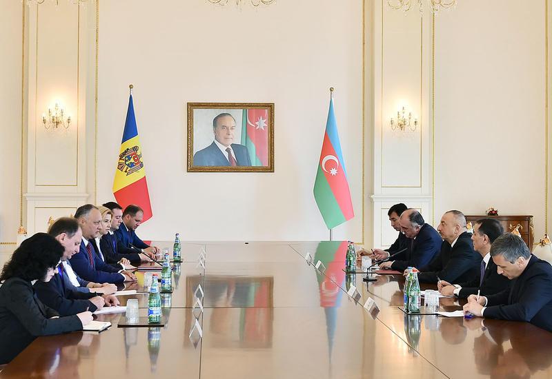 Президент Ильхам Алиев: Существует много общих черт в подходах и оценках Азербайджаном и Молдовой происходящих событий