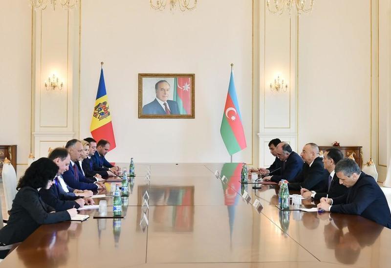 Президент Молдовы: Будут рассмотрены конкретные проекты для более активного сотрудничества с Азербайджаном