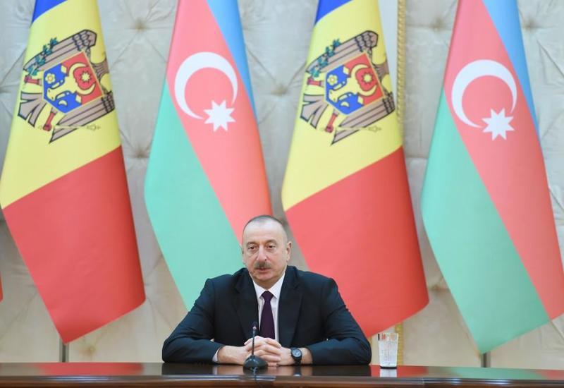 Президент Ильхам Алиев: Азербайджан и Молдова наметили пути дальнейшей совместной деятельности