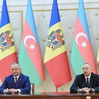 Президенты Азербайджана и Молдовы выступили с заявлениями для печати