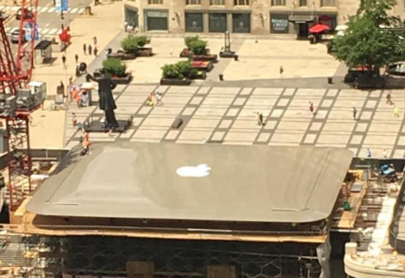 """В Чикаго построили магазин Apple с крышей в виде MacBook <span class=""""color_red"""">- ВИДЕО</span>"""
