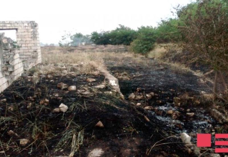 В результате обстрела армян в Агдаме произошел пожар