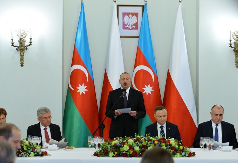 """Президент Ильхам Алиев: Азербайджан вносит вклад в безопасность, стабильность, развитие и сотрудничество в регионе <span class=""""color_red"""">- ОБНОВЛЕНО - ФОТО</span>"""
