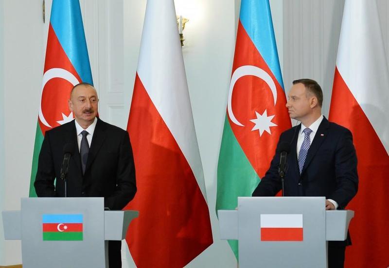 Президент Ильхам Алиев: Совместная декларация по стратегическому партнерству между Азербайджаном и Польшей охватывает все направления наших связей