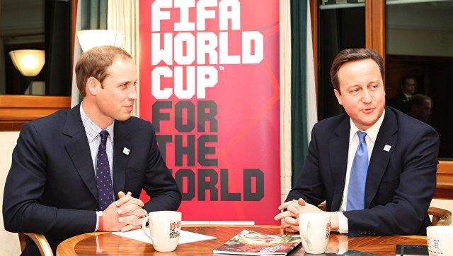 Принц Уильям иДэвид Кэмерон задействованы вскандале сФИФА