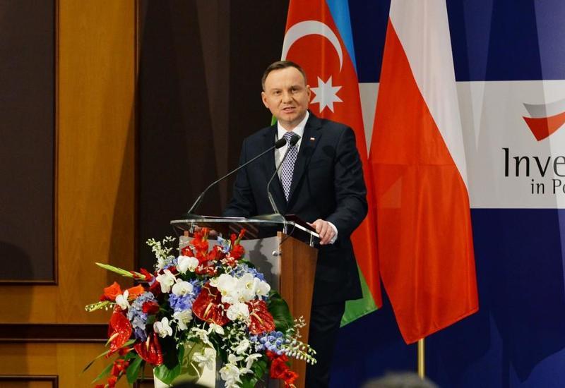 Анджей Дуда: Азербайджан является важным партнером Польши в регионе Южного Кавказа и Каспийского моря