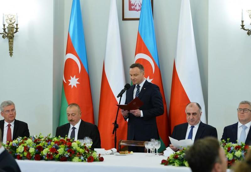 Анджей Дуда: Польша и Азербайджан являются экономическими лидерами в своих регионах, играют решающую роль в обеспечении их стабильности и развития
