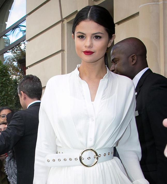 Selena gomez hot pink dress selena gomez let her hot-pink