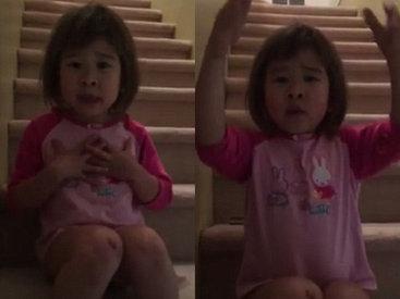6-летняя дочь разведенных родителей шокировала мир своей речью - ФОТО - ВИДЕО