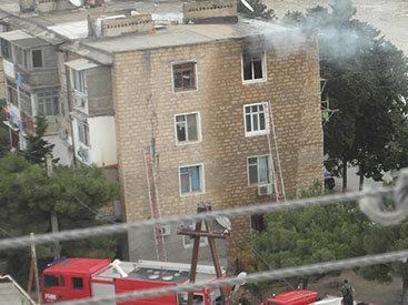 В бакинском поселке произошел сильный пожар - ФОТО