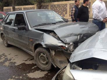 Quba rayonunda iki minik avtomobili toqquşub - FOTO