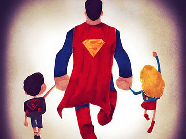 """""""Картинная галерея Day.Az"""": Иллюстрации семейных супергероев - ФОТО"""