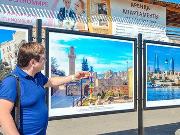 Передвижная выставка ближе знакомит россиян с Азербайджаном - ФОТО
