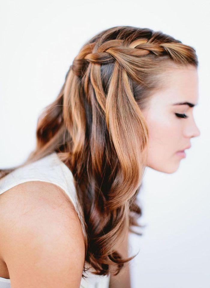 Косичка на средние волосы своими руками