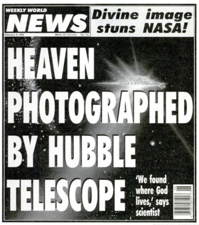 Газета, написавшая про Местообитание Бога