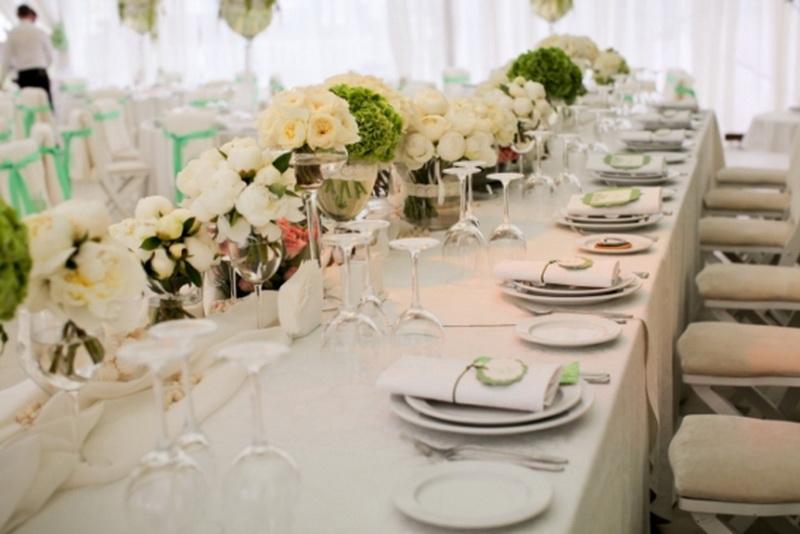 Столы на свадьбе как лучше поставить на