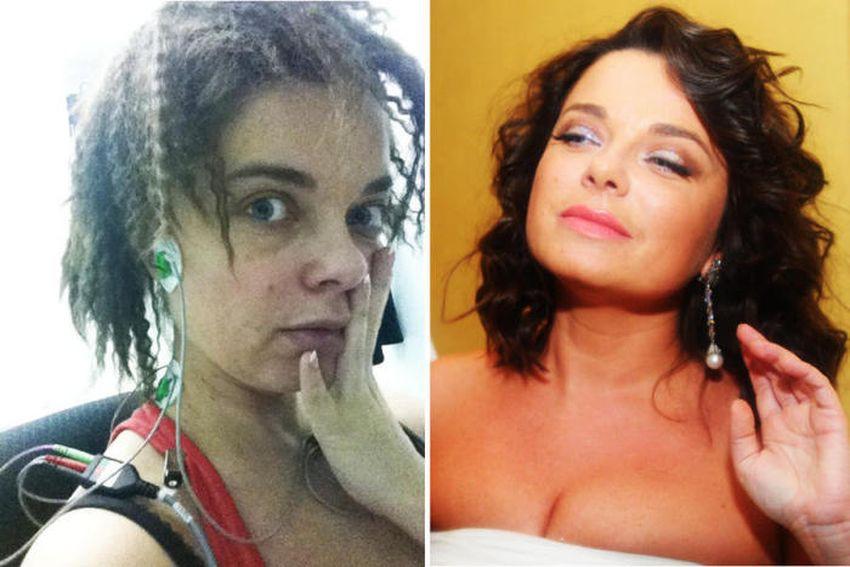 Фото русских актеров с макияжем и без