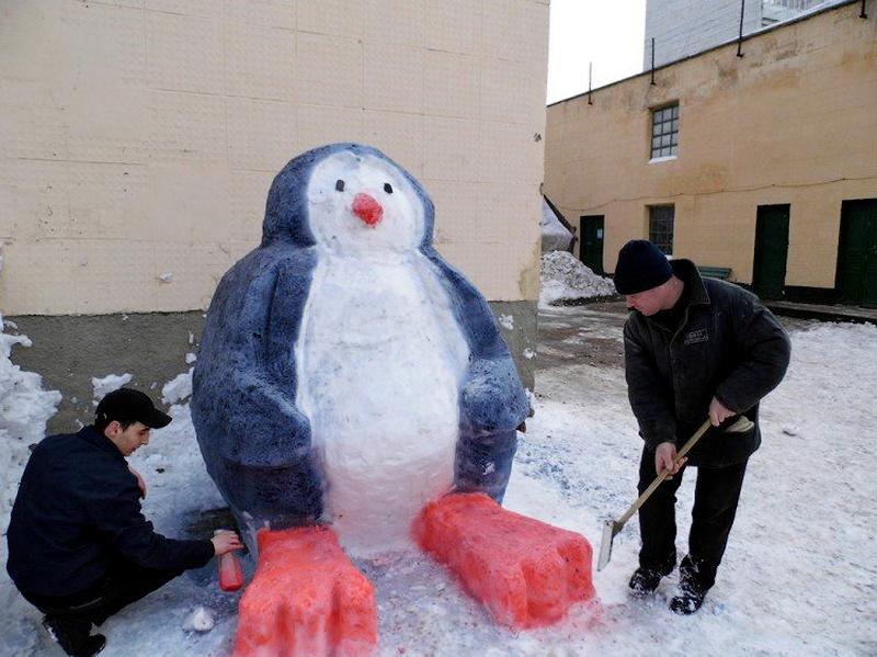 Фигуры из снега как делать