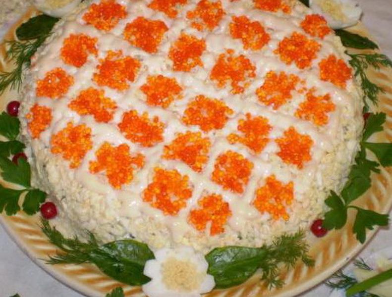 салат из семги рецепт с фото простой рецепт
