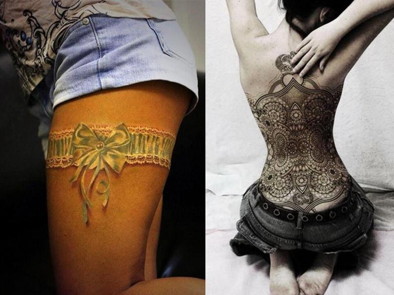Сексуальное женское тату