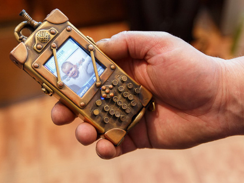 Телефон стимпанк своими руками