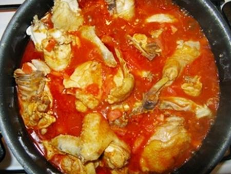 Чахохбили из курицы рецепт пошагово в сковороде с томатной