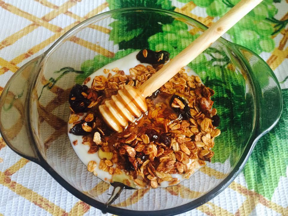 Гранола с медом, барбарисом и брусникой - Пошаговый рецепт - ФОТО